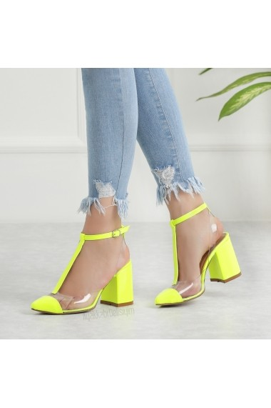 Pantofi cu toc DELISIYIM Loye Verde - els