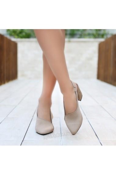 Pantofi cu toc DELISIYIM Vilop Bej - els