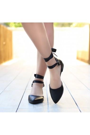 Pantofi cu toc DELISIYIM Santer Negru - els