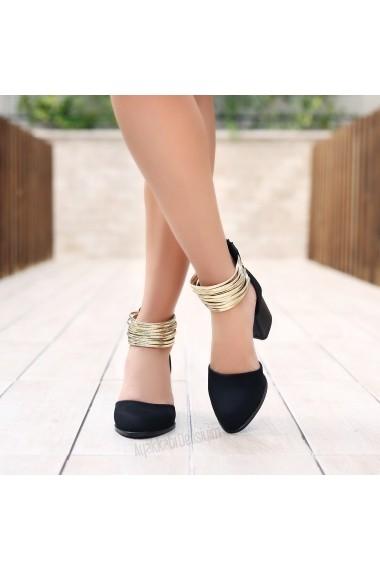 Pantofi cu toc DELISIYIM Aryo Negru - els
