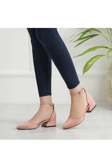 Pantofi cu toc DELISIYIM Pitka Roz