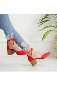 Pantofi cu toc DELISIYIM Vande Rosu