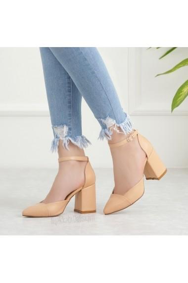 Pantofi cu toc DELISIYIM Tavora Bej - els