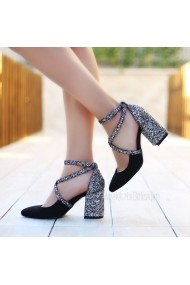 Pantofi cu toc DELISIYIM Katalin Negru