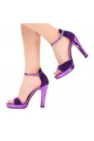 Sandale cu toc DELISIYIM Marino Mov
