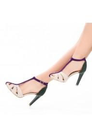 Sandale cu toc DELISIYIM Keops Multicolor