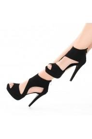 Sandale cu toc DELISIYIM Feronia Negru