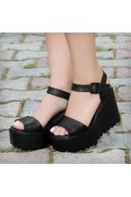 Sandale cu platforma DELISIYIM Pusita Negru