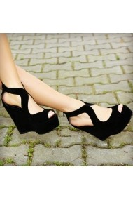 Sandale cu platforma DELISIYIM Romeo Negru