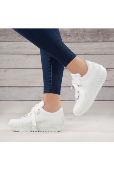 Pantofi sport casual DELISIYIM Fuka Alb
