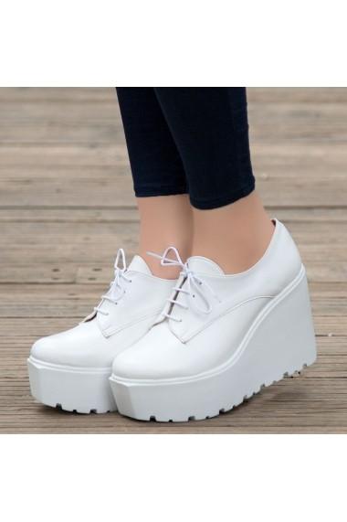 Pantofi sport casual DELISIYIM Revel Alb - els