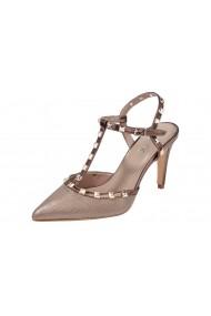 Pantofi cu toc Heine 067456 gri-bej