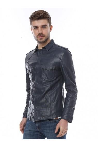 Jacheta din piele L.Y.N.N by Carla Ferreri SS19 LYNN CF 957 Albastru