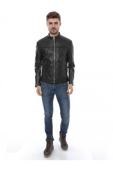 Jacheta din piele L.Y.N.N by Carla Ferreri SS19 LYNN CF 410 Negru