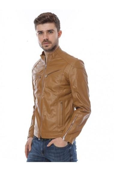 Jacheta din piele L.Y.N.N by Carla Ferreri SS19 LYNN CF 410 Maro