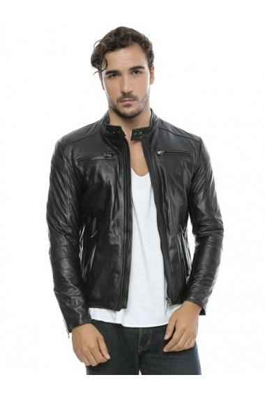 Jacheta din piele L.Y.N.N by Carla Ferreri SS19 LYNN CF O16 Negru