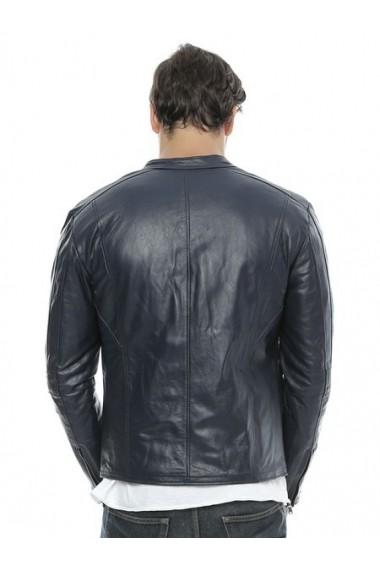 Jacheta din piele L.Y.N.N by Carla Ferreri SS19 LYNN CF O16 Albastru