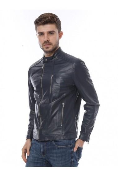 Jacheta din piele L.Y.N.N by Carla Ferreri SS19 LYNN CF 896 Albastru