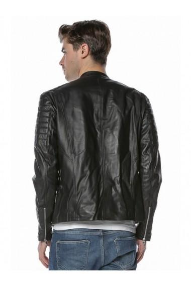 Jacheta din piele L.Y.N.N by Carla Ferreri SS19 LYNN CF 1816 Negru