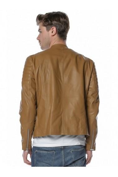 Jacheta din piele L.Y.N.N by Carla Ferreri SS19 LYNN CF 1816 Maro