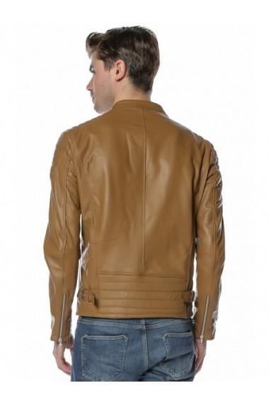 Jacheta din piele L.Y.N.N by Carla Ferreri SS19 LYNN CF 1825 Maro