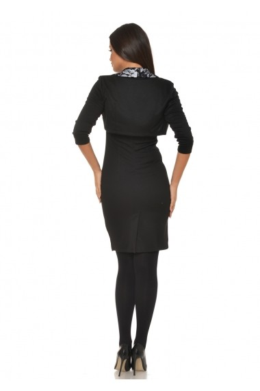 Costum doua piese AD-Fashion negru cu alb ADF-R028020