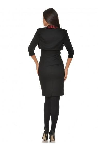 Costum doua piese AD-Fashion negru cu rosu ADF-R028061