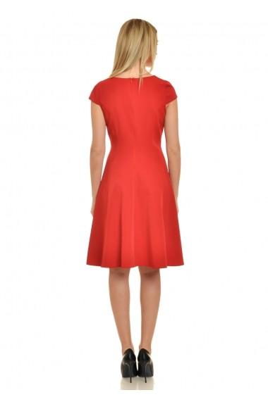 Rochie de zi AD-Fashion rosie cu flori aplicate ADF-R228i013F