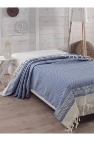 Cuvertura pat dublu Eponj Home 143EPJ9019 albastru