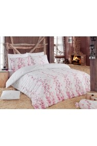 Set lenjerie de pat dublu Eponj Home 143EPJ1261 roz
