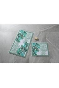 Set 2 covorase de baie Confetti 352CNF1097 verde