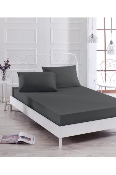 Set lenjerie de pat EnLora Home 162ELR0546 negru
