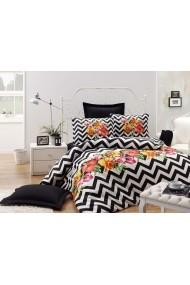 Set lenjerie de pat single EnLora Home 162ELR1373 negru