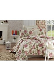 Set lenjerie de pat single EnLora Home 162ELR6107 roz