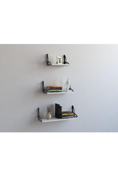 Set rafturi de perete Decormet 775DCM1699 Alb