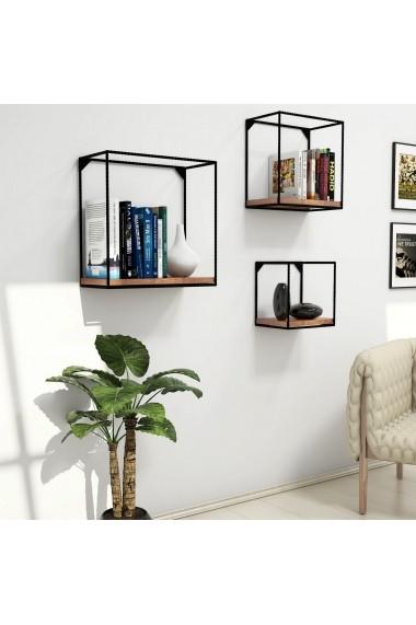 Set 3 etajere perete Puqa Design 835PUQ1615 Maro