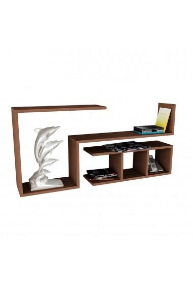 Etajera perete Wooden Art 731WAT1626 Negru