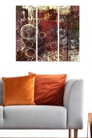 Tablou decorativ (set 3 piese) Bianca 553BNC3135 multicolor