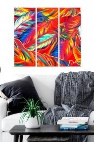 Tablou decorativ (set 3 piese) Bianca 553BNC3146 multicolor