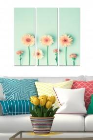 Tablou decorativ (set 3 piese) Bianca 553BNC3181 multicolor