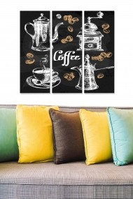 Tablou decorativ (set 3 piese) Bianca 553BNC3232 multicolor
