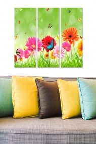 Tablou decorativ (set 3 piese) Bianca 553BNC3279 multicolor