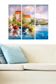 Tablou decorativ (set 3 piese) Bianca 553BNC3295 multicolor