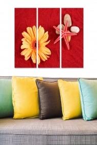 Tablou decorativ (set 3 piese) Bianca 553BNC3326 multicolor