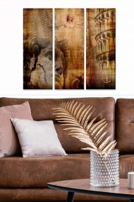 Tablou decorativ (set 3 piese) Bianca 553BNC3394 multicolor