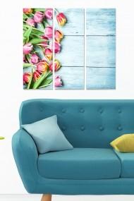 Tablou decorativ (set 3 piese) Bianca 553BNC3405 multicolor