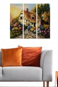 Tablou decorativ (set 3 piese) Bianca 553BNC3411 multicolor