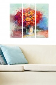Tablou decorativ (set 3 piese) Bianca 553BNC3604 multicolor