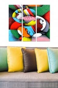 Tablou decorativ (set 3 piese) Bianca 553BNC3648 multicolor