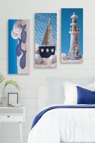 Tablou decorativ (set 3 piese) Marvellous 537MRV5105 multicolor